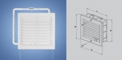 PVC ventilation grills with montage frame and louvers HACO