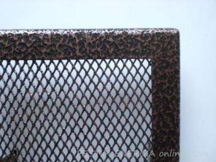 Решетка за камина цвят меден шагрен с тесен кант
