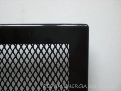 Решетка за камина цвят черен гланц с тесен кант