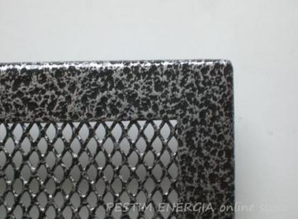 Решетка за камина цвят сребърен шагрен с широк кант