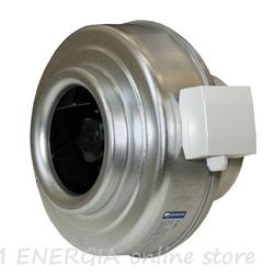 Шведски кръгъл канален вентилатор K серия, метален корпус