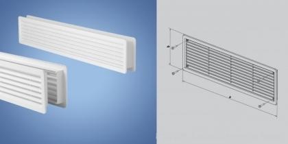 PVC вентилационна компресионна решетка за врати HACO