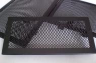 Решетка за камина цвят черен мат с тесен кант