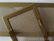 Решетка за камина цвят месинг мат с тесен кант