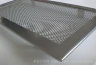 Решетка за камина цвят бяло злато с тесен кант