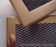 Месингова решетка за камина с тесен кант