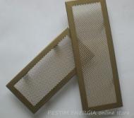 Решетка за камина цвят месинг мат с широк кант