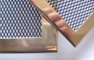 Месингова решетка за камина с широк кант
