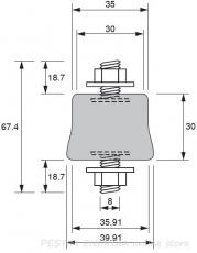 Антивибрационен тампон с височина 35мм