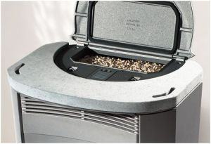 Pellet stoves with water jacket