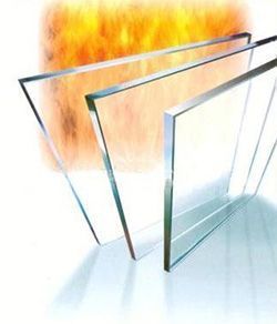 Fire-resistant glass and accessories