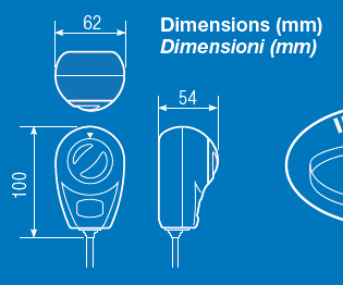 Arthermostat dimensions