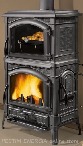 Cast-Iron Stove with an Oven Isotta Forno