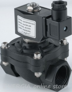 Magnet valves with direct control, normally closed, plastic