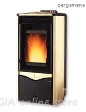Fireplace pellets with air jacket Duchessa steel- 10,0 kW