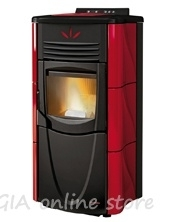 Fireplace pellets with air jacket Graziosa Lux plus - 8,0 kW