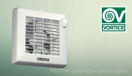 Bathroom Fan Vortice Punto A LL - with automatic shutters