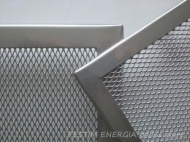 Fireplace ventilation grille white gold colour with a narrow frame