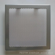 Fireplace grille white gold colour with a wide frame