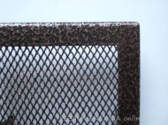 Fireplace grille copper shagreen colour with a wide frame