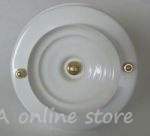 White valve with brass elements