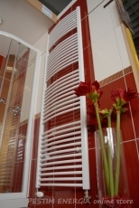 Steel Bathroom Radiator, oval, white