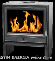 Cast iron fireplace on solid fuel Barun