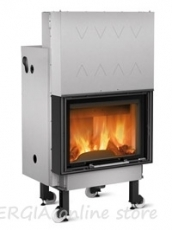 Fireplace with jacket Termocamino WF PLUS D.S.A. - 24 kW