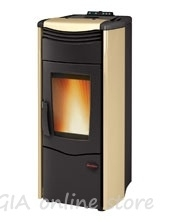 Fireplace pellets with air jacket  Dorina - 7,0 kW