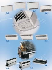 Fan Coils Series Wx6, for standard wall mounting, with front exhaust air grille and air taking from below, without feet