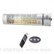 Water-resistant heater for outdoor areas Low Glare 2000 with a remote