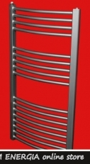 Bathroom Radiator, curved, chrome