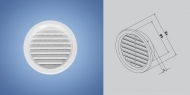 Plastic ventilation grilles with mesh HACO