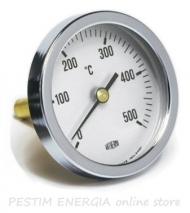 "Bimetallic thermometer Fig. 569 T/B (40 mm, 0/500 °С), shank length 20x9 mm, G1/4"" threaded with nut"