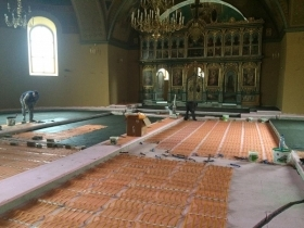 Infrared floor heating AHT