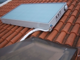Solar water heater - collector with built-in tank DIRESOL - Advanced Solar Technology
