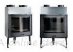 Burning Chamber Focolare 70 Tondo with an Oval Glass - with Air Ducts